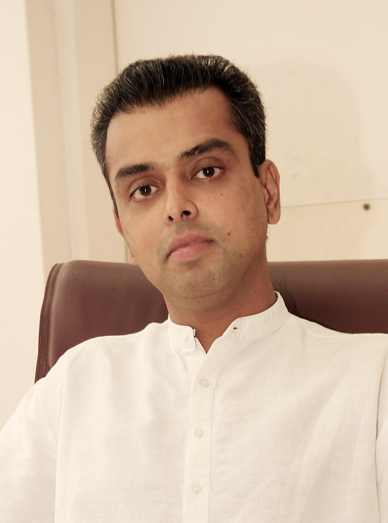 Miland Deora, minister of state for telecom at his office in New Delhi. Photo by Shome Basu