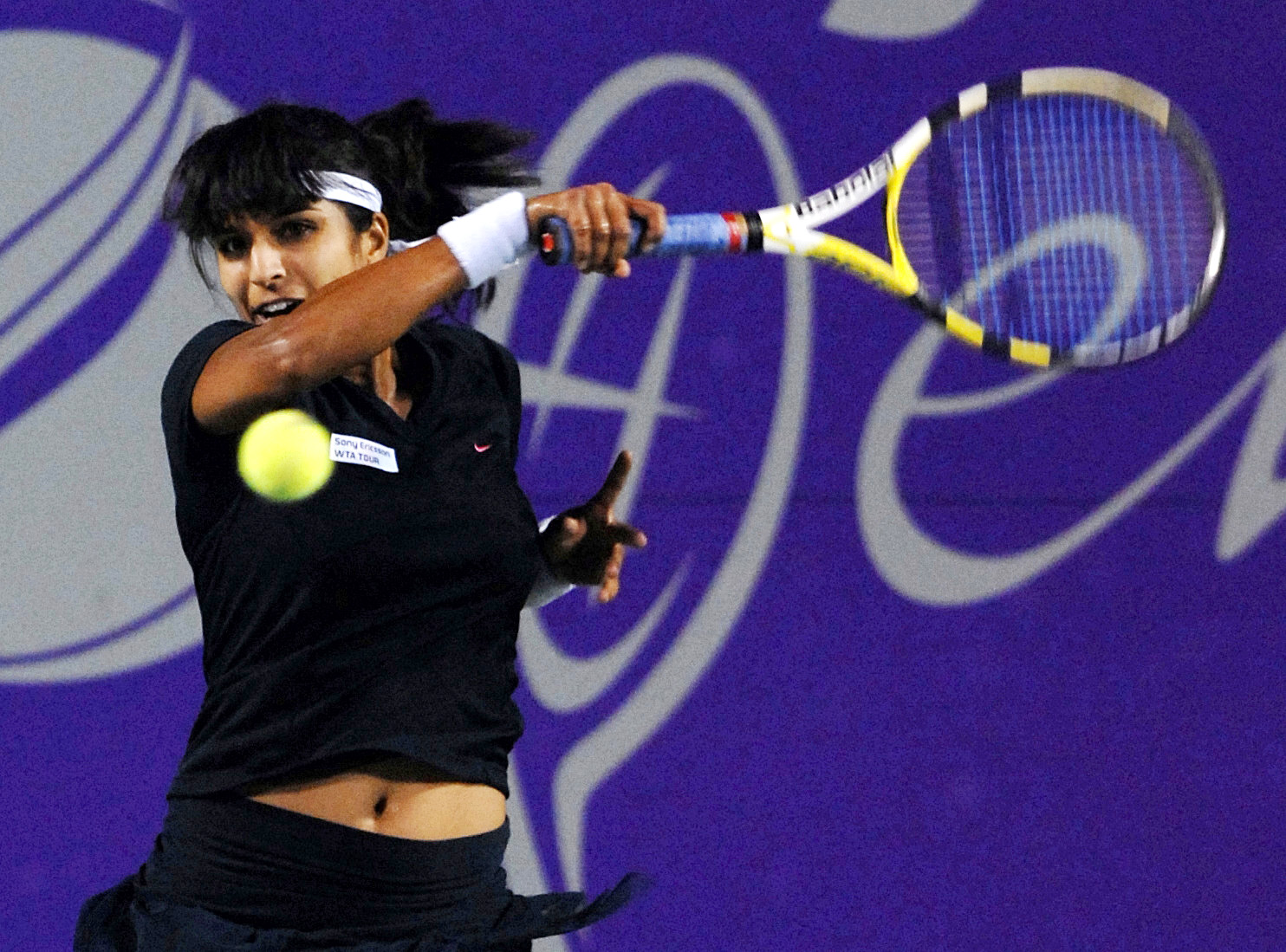 Shikha Uberoi Bajpai in action in her playing days.