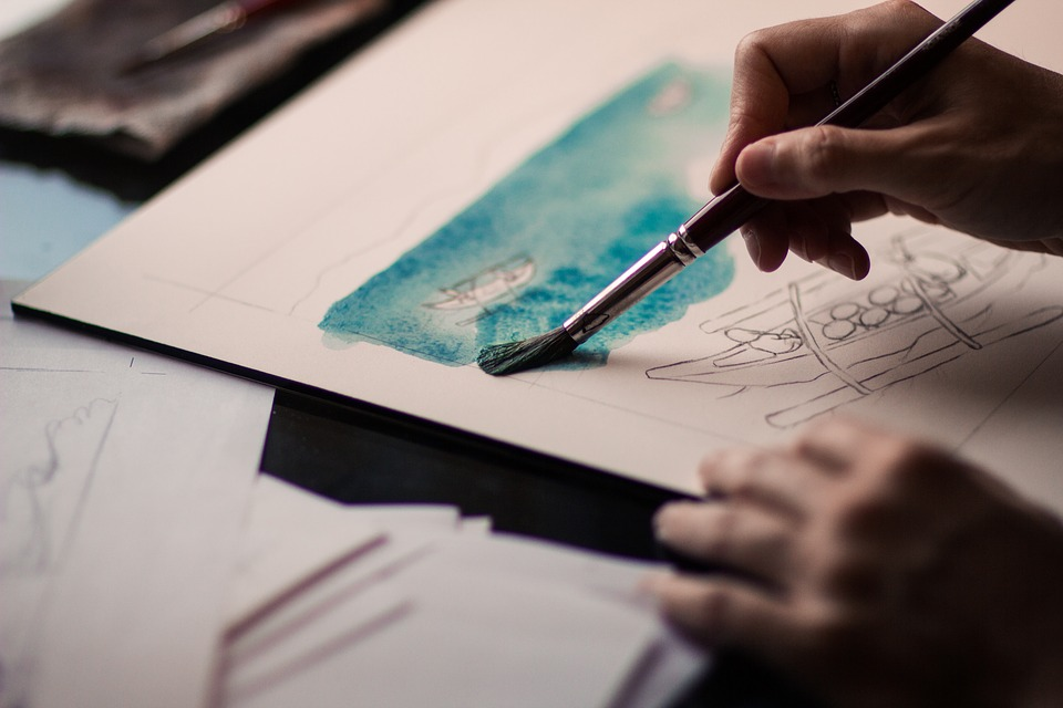 Finding a creative outlet such as painting can help in realising ideas, says the author.