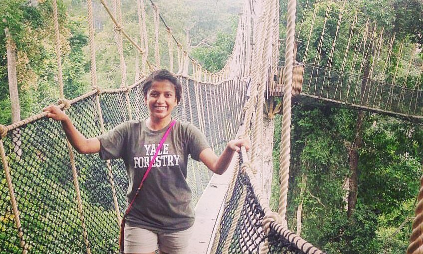 The world around us is changing faster than we would like. The author on a canopy walk at Kakum Tropical Forest in Ghana, West Africa. Photo courtesy: Abhilasha Purwar