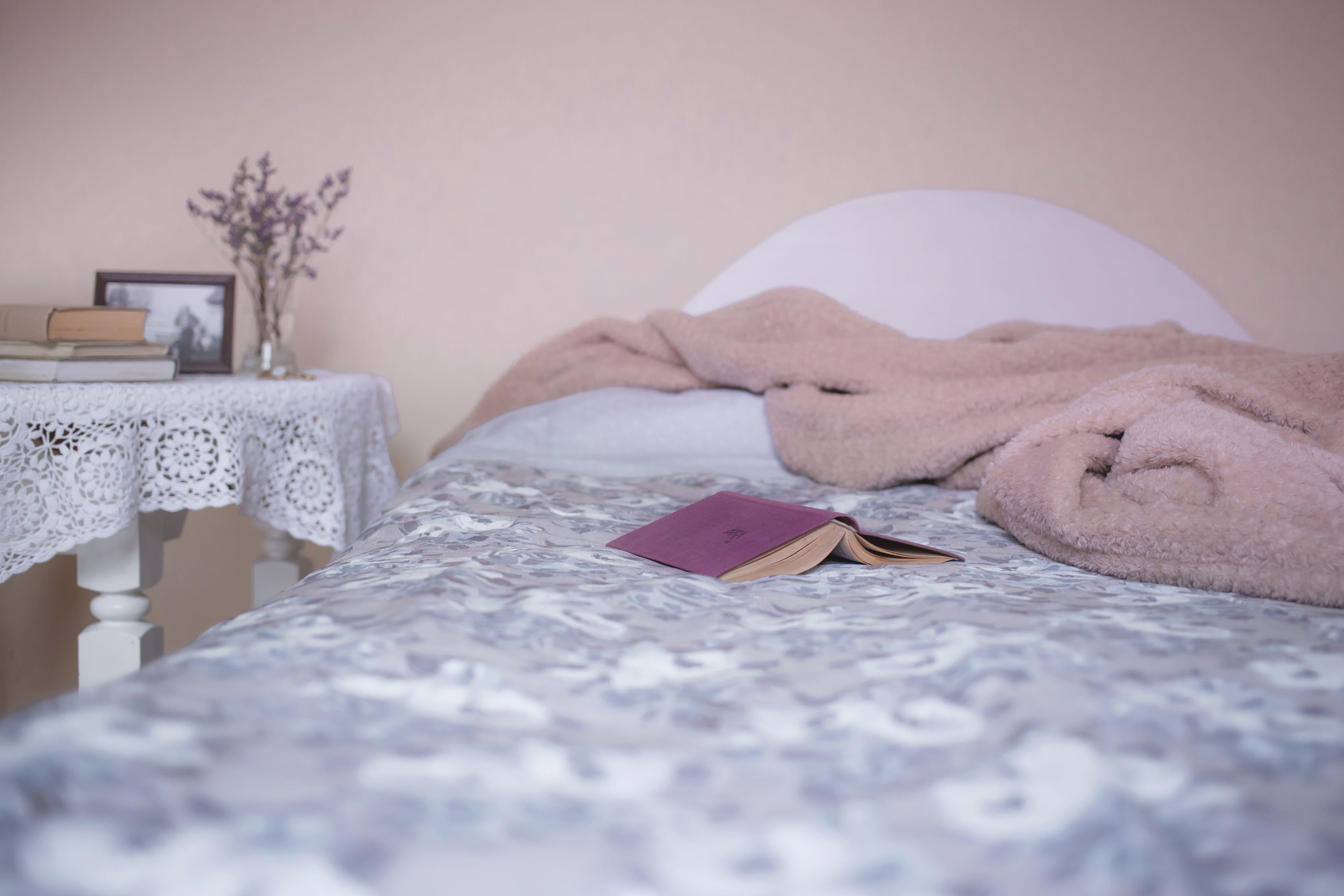 Don't take a book to bed, reading might hamper a good night's sleep.