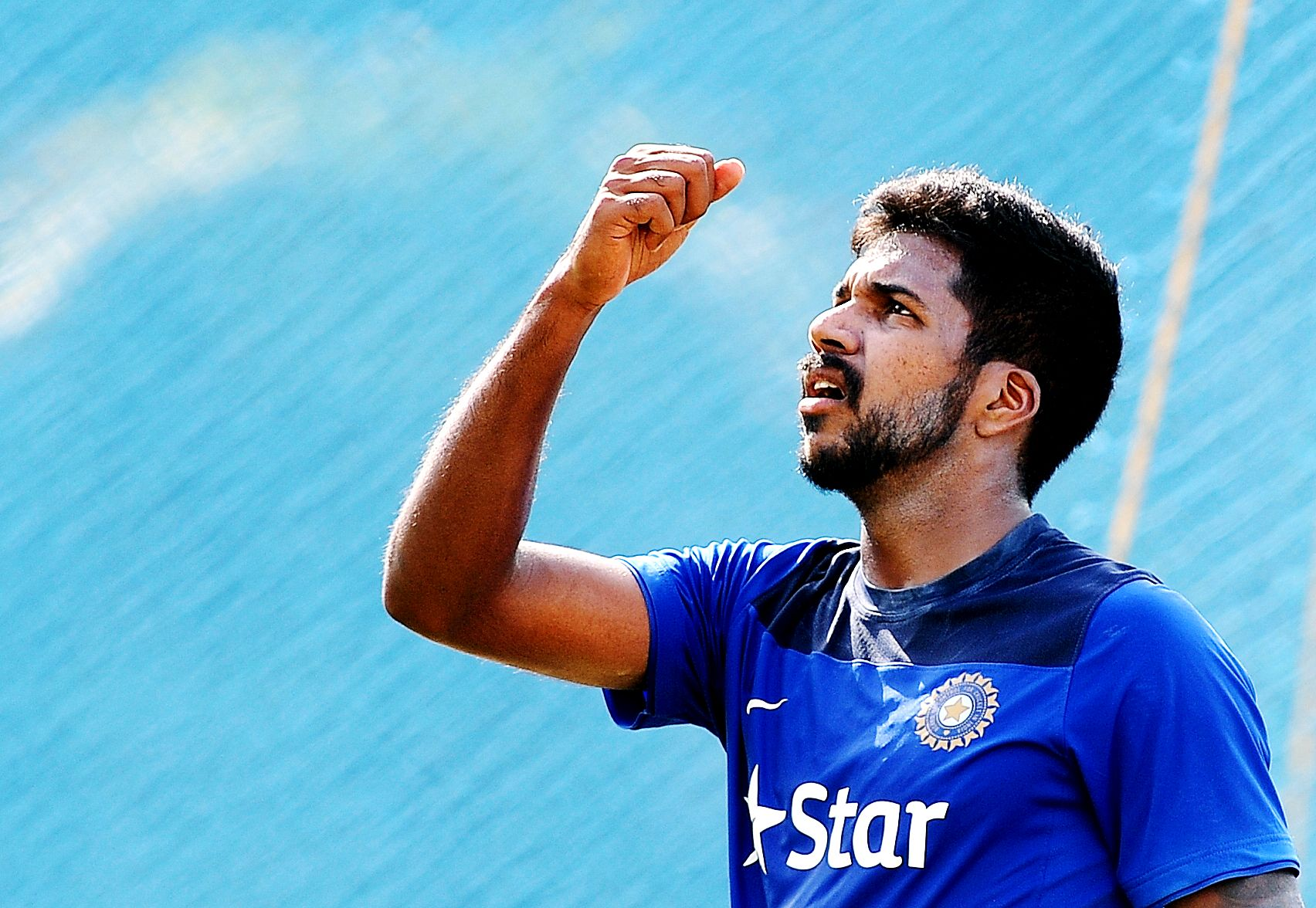 File photo of Varun Aaron during a practise session in Chennai in 2015. Photo by B A Raju/The Times of India